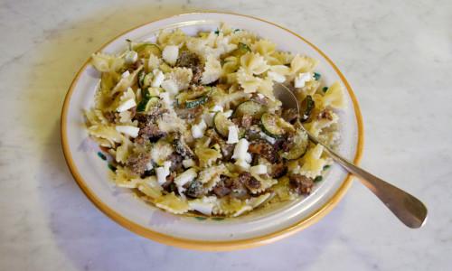 Recipe: Farfalle/Sausage & Zucchini