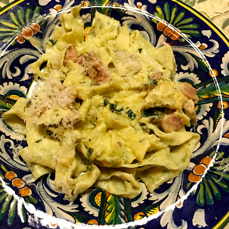 Pappardelle with lemon sauce